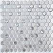 Мозаика LeeDo: Argento grani hexagon 23x13x6 мм