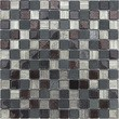 Мозаика LeeDo - Caramelle: Naturelle - Alcantara Nero 23х23х8 мм