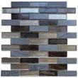 Мозаика LeeDo - Caramelle: Naturelle - Alcantara Nero 23х73х8 мм