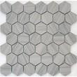 Мозаика LeeDo: Pietrine Hexagonal - Marmara grey полированная 23х40х7 мм