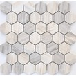 Мозаика LeeDo: Pietrine Hexagonal - Nuvola rosato полированная 23х40х7 мм
