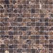 Мозаика LeeDo - Caramelle: Pietrine - Emperador Dark полированная  23x23x4 мм