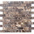 Мозаика LeeDo - Caramelle: Pietrine - Emperador Dark полированная 23x48x4 мм