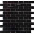 Мозаика LeeDo: Pietrine - Nero Oriente полированная 23x48x4 мм