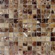 Мозаика LeeDo - Caramelle: Pietrine - Emperador Dark полированная 23х23х7 мм
