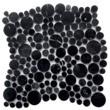 Мозаика LeeDo - Caramelle: Pietrine - Nero oriente bolli полированная (круглые чипы)