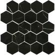 Мозаика LeeDo: Marrone oriente POL 37x64 мм гексагон, полированный керамогранит